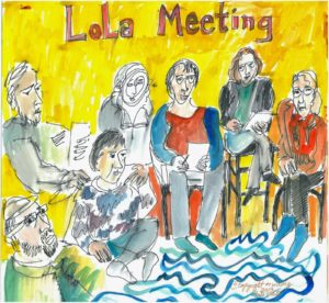 2009 LoLa Meeting. Illustration by Anita White.