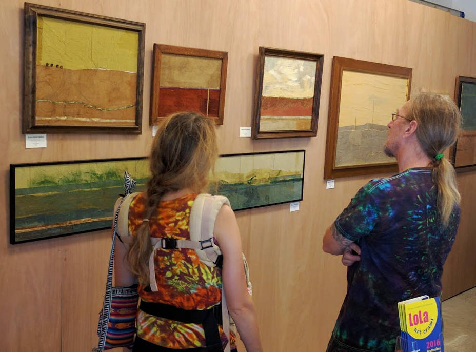 Art viewers in Kolstad Gallery